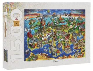 Пазл Достопримечательности Европы 1500 элементов Step Puzzle