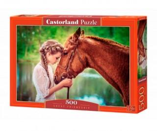 Пазл Девушка и лошадь 500 элементов Castorland