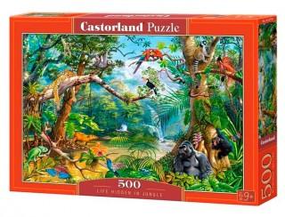 Пазл Жизнь в джунглях 500 элементов Castorland