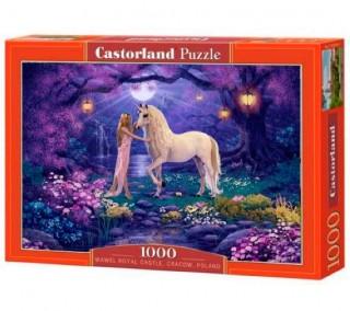 Пазл Единорог в саду 1000 элементов Castorland