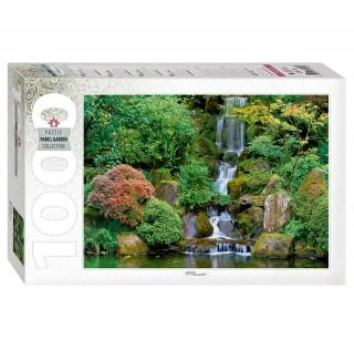 Пазл Водопад в японском саду 1000 элементов Step Puzzle