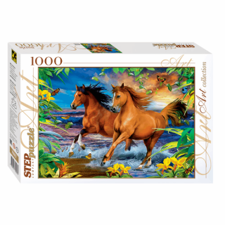 Пазл Лошади 1000 элементов Step Puzzle