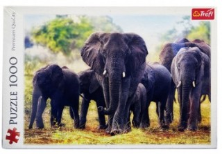 Пазл Африканские слоны 1000 элементов Trefl