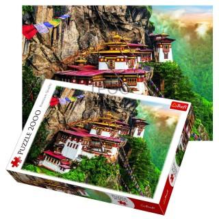Пазл Тигровое гнездо, Бутан 2000 элементов Trefl