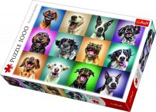 Пазл Смешные портреты собак 1000 элементов Trefl