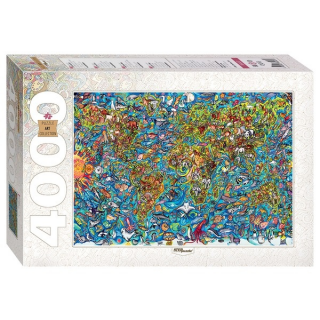 Пазл Карта мира 4000 элементов Step Puzzle