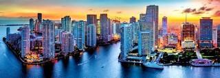 Пазл Майами в сумерки панорамный 1000 элементов Trefl