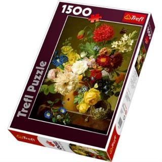 Пазл Натюрморт с цветами 1500 элементов Trefl