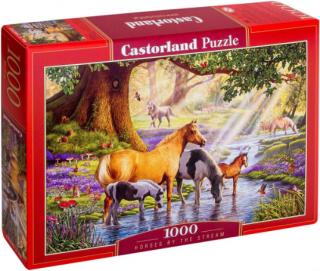Пазл Лошади на реке 1000 элементов Castorland