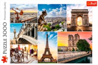 Пазл Магия Парижа - коллаж 3000 элементов Trefl