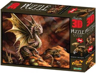 Пазл Super 3D Пустынный дракон 500 деталей