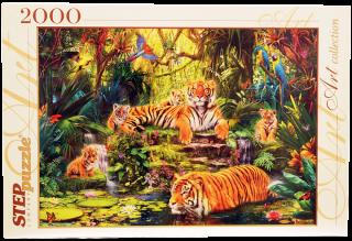 Пазл В джунглях Тигры 2000 элементов Step Puzzle