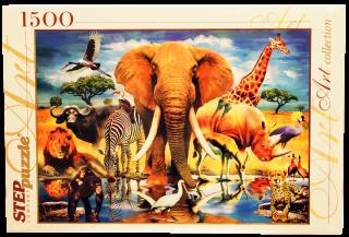 Пазл В мире животных 1500 элементов Step Puzzle