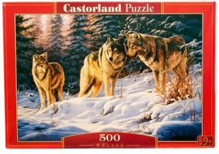 Пазл Волки 500 элементов Castorland