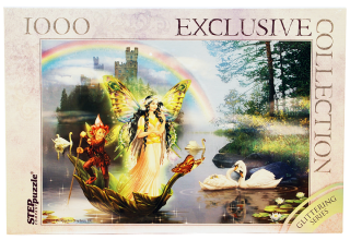 Пазл Волшебное озеро Glitter 1000 элементов Step Puzzle