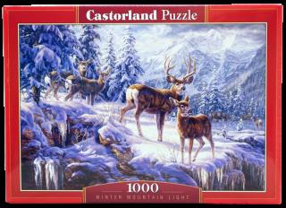 Пазл Зимние горы 1000 элементов Castorland