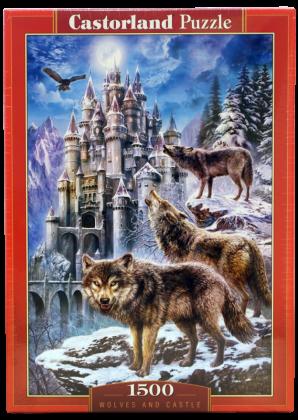 Пазл Волки и замок Castorland